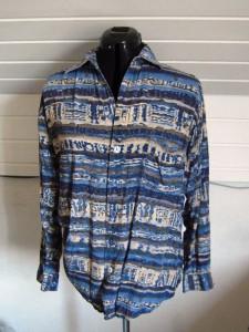 Thrifted silk shirt