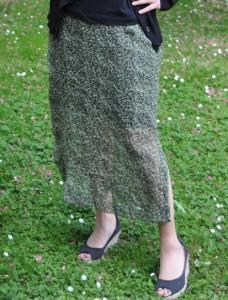The final result: my sheer overlay skirt