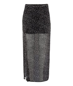 H&M's skirt with sheer leopard overlay