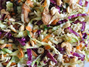 ED Asian chicken slaw 300x225 Cabbage slaw (coleslaw) two ways