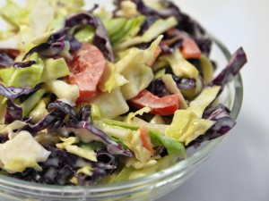 ED Red white blue coleslaw 300x225 Cabbage slaw (coleslaw) two ways