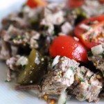 Swiss cold beef salad