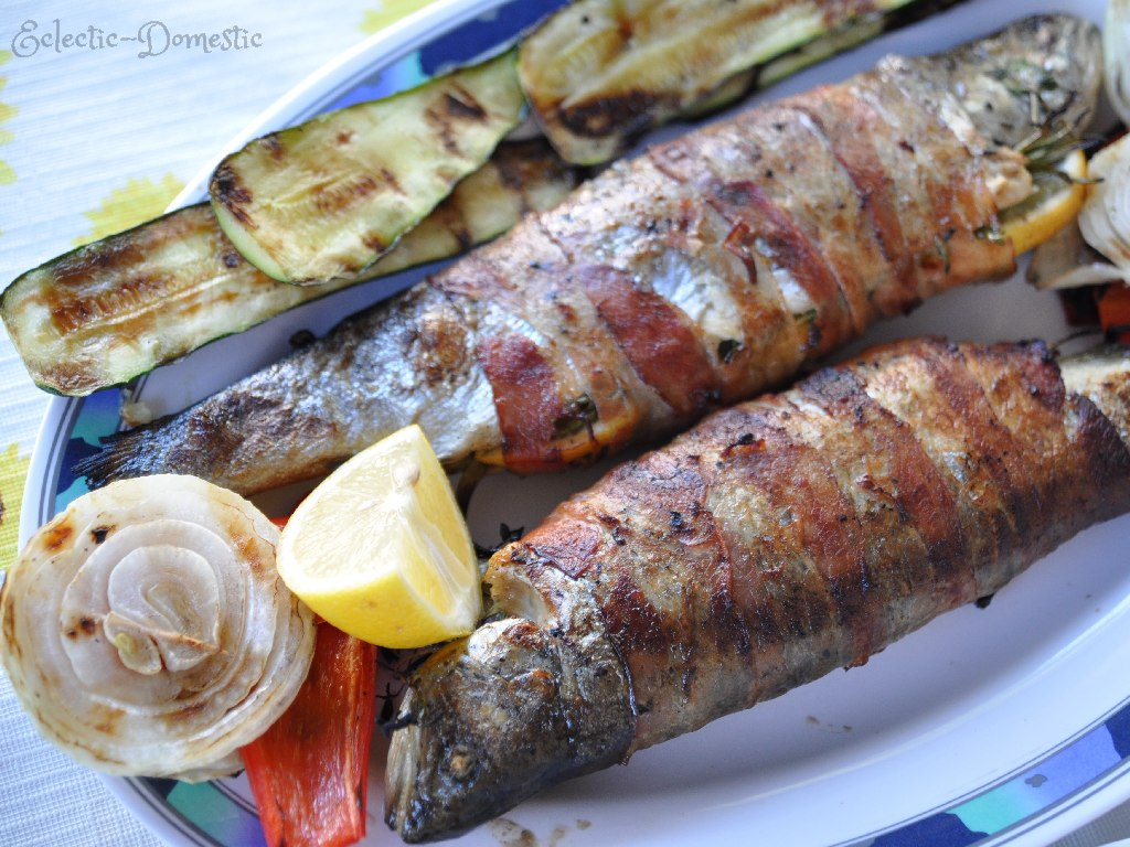 Bacon-wrapped stuffed grilled trout - Eclectic-Domestic