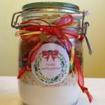 Gifts in a jar: m&m cookies