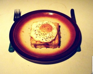 Croque Madame, from WIkipedia, licensed under the GNU General Public License.