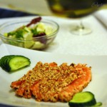 ED salmon plate1 150x150 Sesame crusted seared salmon sashimi