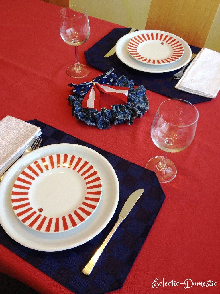 4th of July table decoration